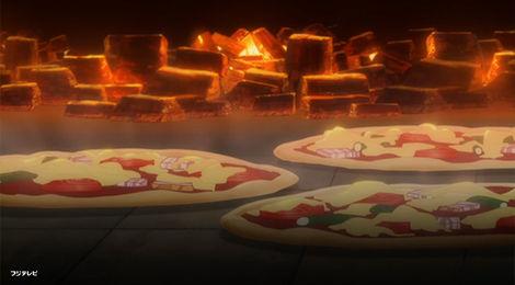 ピザを入れて5分
